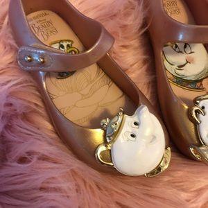 Mini Melissa Girl Shoes- Metallic Pink